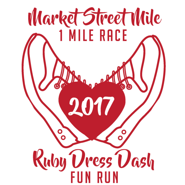 Market Street Mile - Ruby Dress Dash Logo